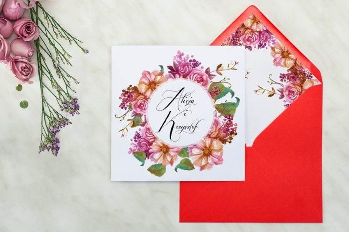 zaproszenie-slubne-kwiaty-wianuszki-rustykalny-bukiet-papier-matowy-koperta-wianuszki-rustykalny-bukiet