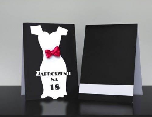 Zaproszenie studniówkowe na 18 urodziny imprezowa sukienka