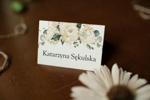 Winietka ślubna do zaproszenia Wianki z kokardą - Fuksjowe peonie