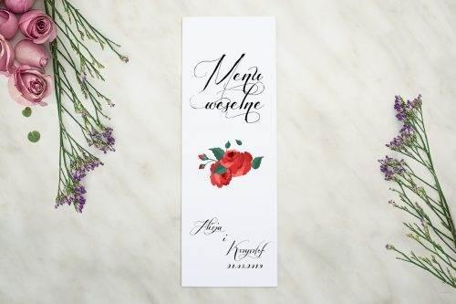 Wianki z kokardą - Bordowe róże - MENU S