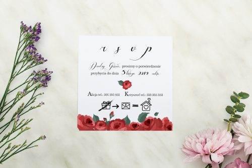 Wianki z kokardą - Bordowe róże - rsvp