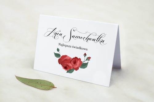 Wianki z kokardą - Bordowe róże - winietka