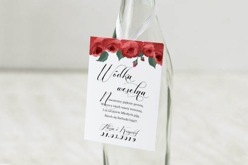 Wianki z kokardą - Bordowe róże - zawieszka
