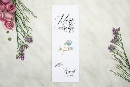 Wianki z kokardą - Kwiaty lnu - MENU