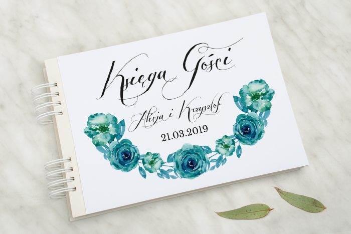 ksiega-gosci-slubnych-wianki-z-kokarda-niebieskie-roze-papier-matowy-dodatki-ksiega-gosci