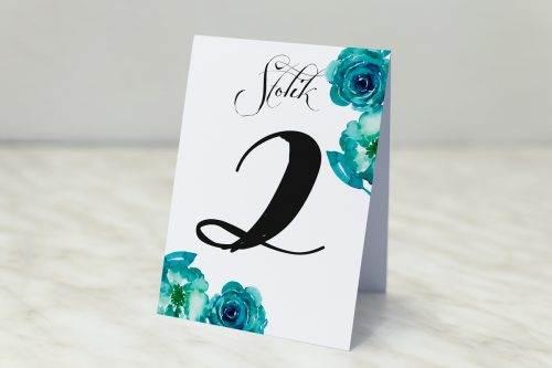 Wianki z kokardą - Niebieskie róże - Nr stolika