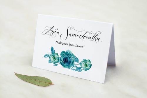 Wianki z kokardą - Niebieskie róże - winietka