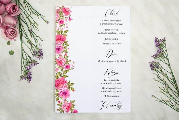 Wianki z kokardą - Ogrodowe róże - MENU T