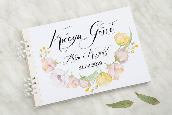 ksiega-gosci-slubnych-wianki-z-kokarda-pastelowe-anemony-papier-matowy-dodatki-ksiega-gosci