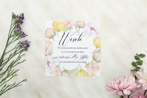 Wianki z kokardą - Pastelowe anemony - karteczka