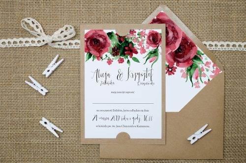 tanie zaproszenie ślubne boho