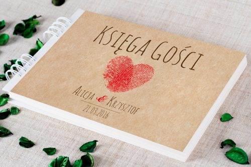 księga gości ślubnych eko eco serce