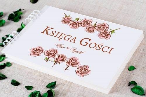 księga gości ślubnych różyczki