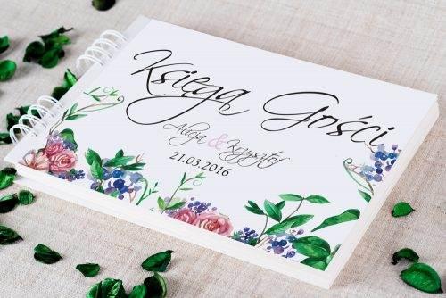 księga gości ślubnych w kwiaty