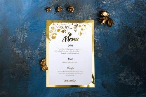 menu złocone