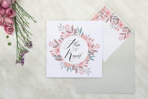 wianuszki pudrowe kwiaty