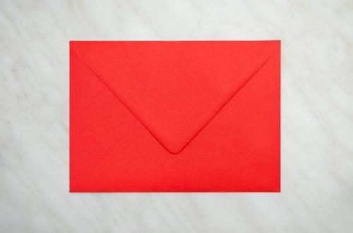 koperta czerwona b6