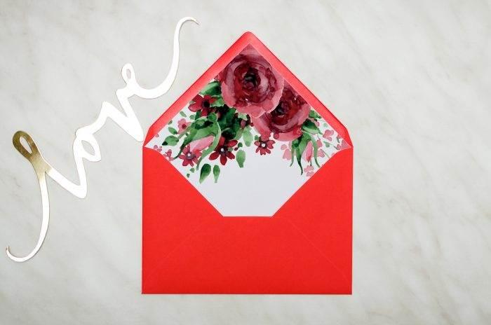 koperta c6 burgundowe róże