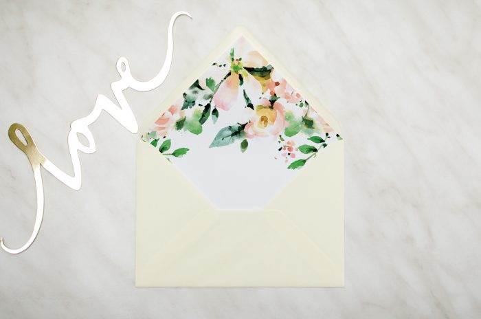 koperta C6 kremowa biała magnolia