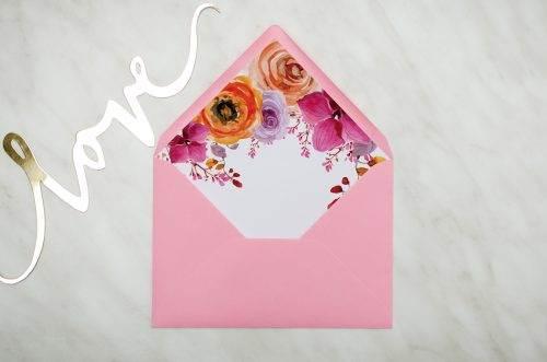 koperta C6 różowa