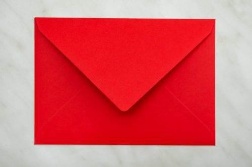 koperta C6 R czerwona