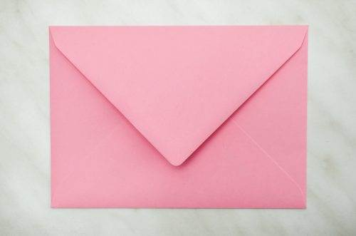 koperta C6 R różowa