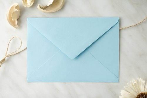 koperta C6 błękitna