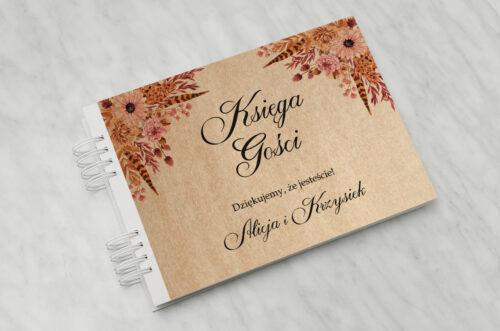 Księga gości ślubnych - Jesienne ECO – Suszony bukiet
