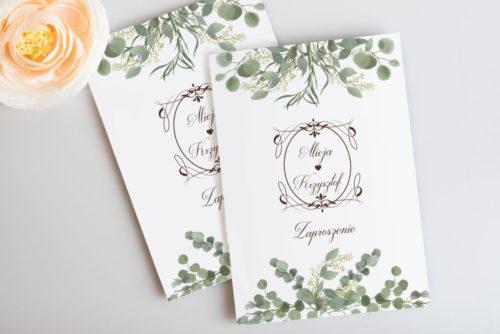 zaproszenie ślubne eukaliptus