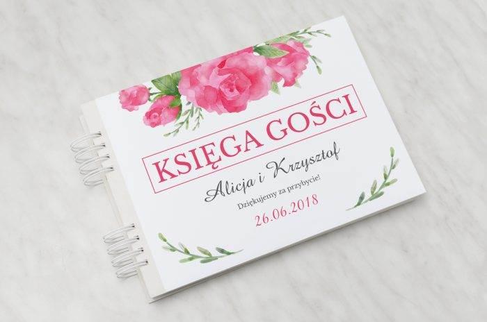 ksiega-gosci-slubnych-kwiaty-z-nawami-akwarelowe-roze-papier-satynowany-dodatki-ksiega-gosci