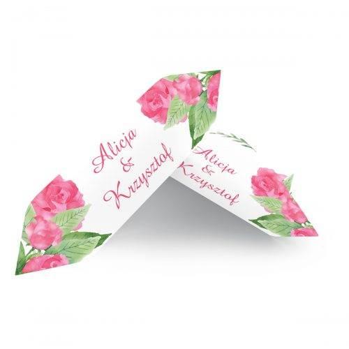 krówka weselna akwarelowe róże
