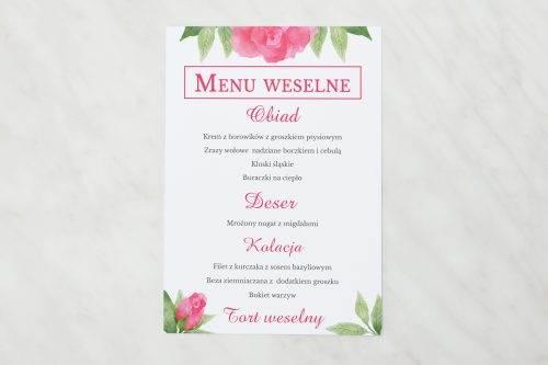 akwarelowe różre menu