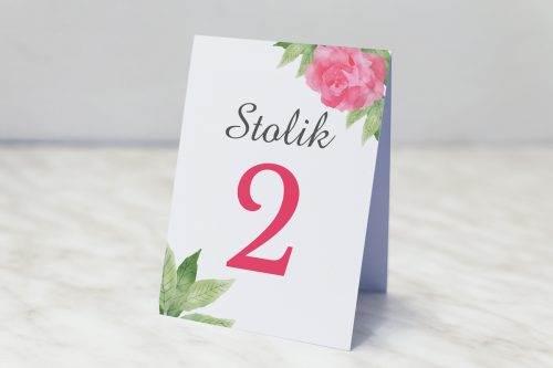 akwarelowe róże numer stolika
