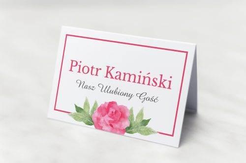 winietka ślubna akwarelowe róże