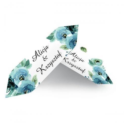 błękitne róże krówka weselna