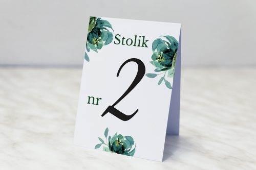 błękitne róże numer stolika