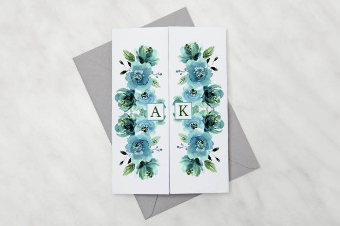zaproszenie-slubne-kwiaty-z-nawami-blekitne-roze-papier-satynowany
