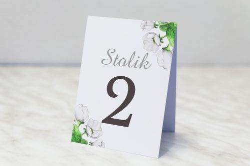 białe anemony numer stolika