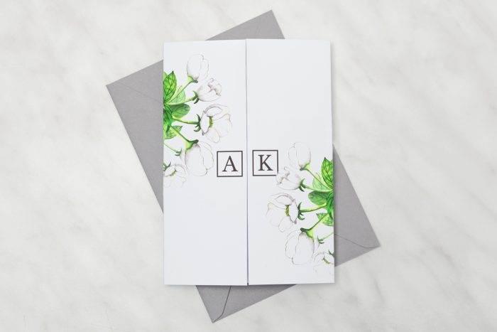 Białe-anemony---zaproszenie-z-kopertą