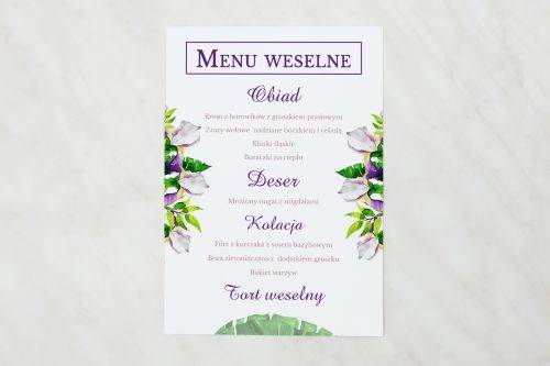 menu weselne krokusy
