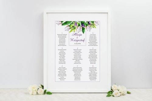 tablica weselna krokusy