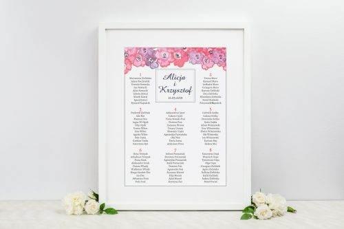 tablica weselna bukiet jesieni