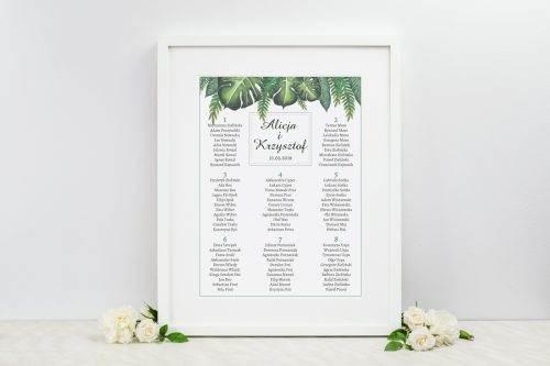 tablica weselna eukaliptus
