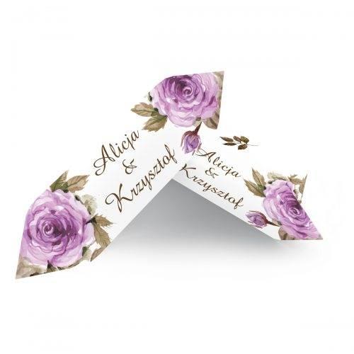krówka weselna fioletowe róże