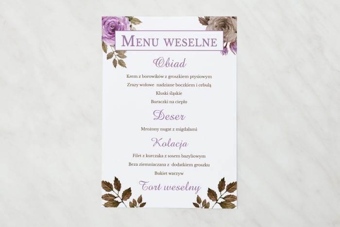 menu-weselne-pasujace-do-zaproszenia-kwiaty-z-nawami-fioletowe-roze-papier-matowy