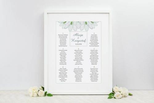 tablica weselna frezje