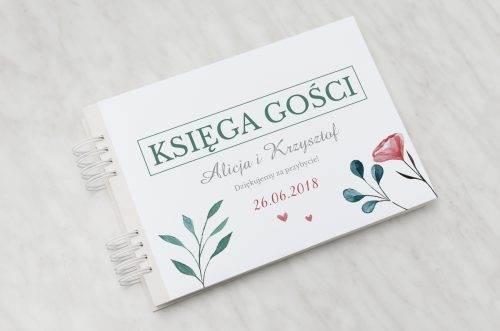 hibiskus księga gości weselnych