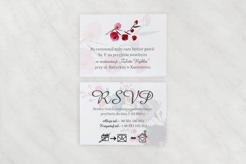 dodatkowe karteczki do zaproszeń ślubnych