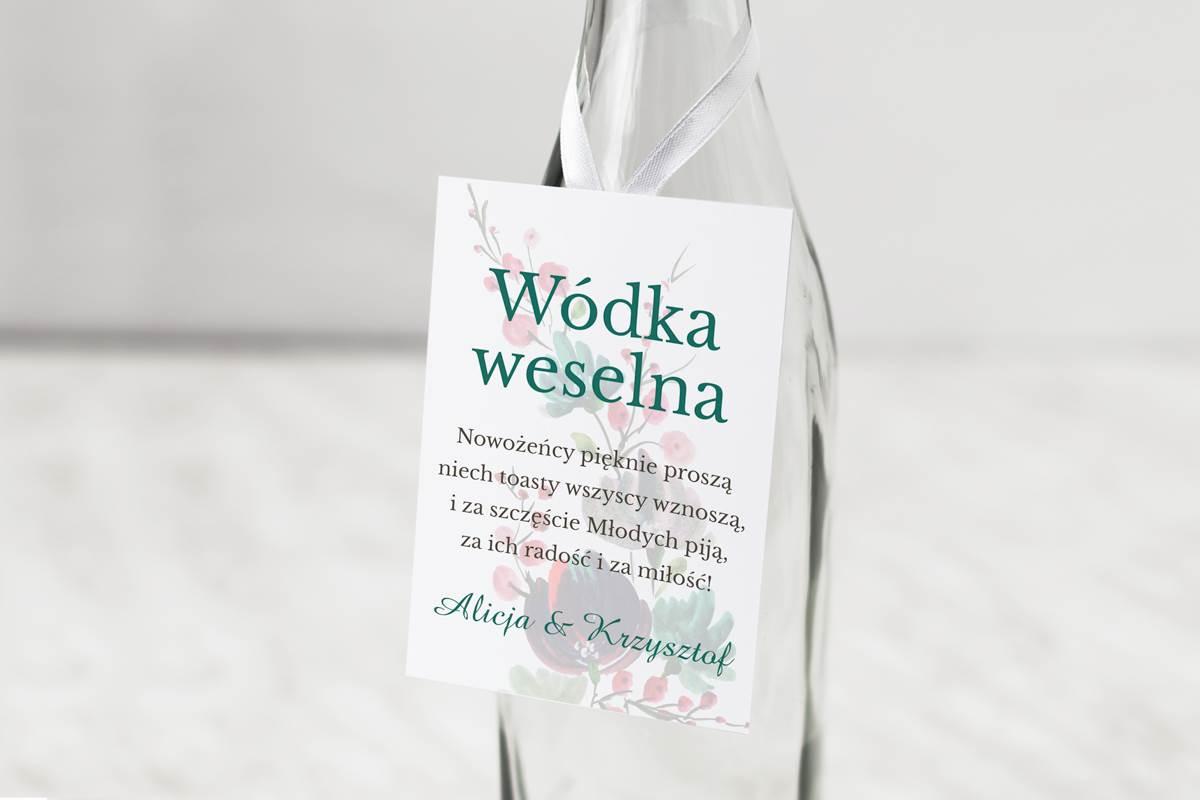 Zawieszka Na Alkohol Do Zaproszeń Kwiaty Z Nawami Kolory Jesieni