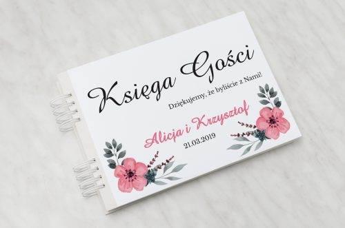 kwiatuszki pink księga gości